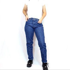 Vintage High Waisted Dark Wash Denim Jeans